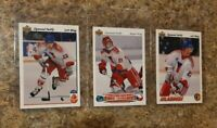 (3) Zigmund Palffy 1991-92 Upper Deck French Czech Rookie card lot RC Islanders