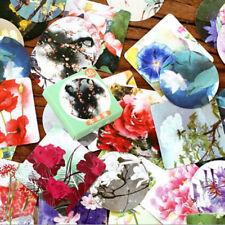 46pcs/pack Various Flowers Plant Label Sticker Decorative Stationery DIY Sticker