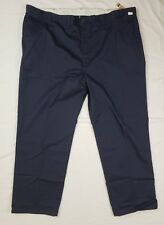 Dickies Insect Shield Mens Navy Blue Cotton Flat Front Work Pants SZ 50X34 - NEW