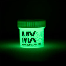 GREEN MX24 Extreme Glow in the Dark Paint DAY Invisible Range 1oz, FREE KEYRING