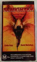"Slaughter (AKA ""Dogs"") VHS 1976 Horror Burt Brinckerhoff CDV Cardboard Case"