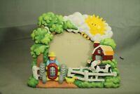Farm theme tractor farmer duck cow barn sun trees 3 dimensional picture frame