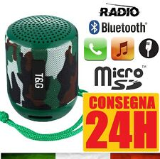 CASSA PORTATILE CON RADIO FM SD USB BLUETOOTH MP3 SMARTPHONE SPEAKER LED TS129