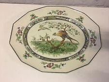 Antique Royal Doulton Pekin Pattern Large Ceramic Tray / Platter Bird Decoration