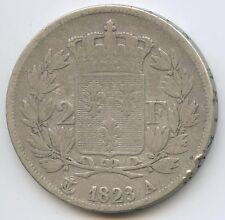 Louis XVIII (1814-1824) 2 Francs argent 1823 A Paris