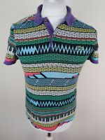 Rare Mens Lacoste Live Piano Brick Polo Shirt Blue Size 2 Xs/s 36 Chest