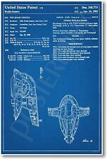 Star Wars Slave 1 Patent - NEW Invention Patent Movie Art POSTER