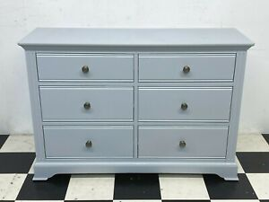 Modern Banbury grey painted six drawer chest of drawers wideboy chest - Delivery
