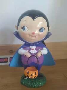 "Hey Boo Halloween Vampire Boy Dracula 8"" Resin Figure"