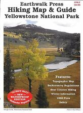 Shaded Relief Hiking Map & Guide, Yellowstone National Park, by Earth Walk Press
