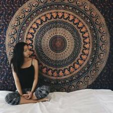 Indian Mandala Hippie Wall Hanging Blue Bohemian Bedspread Dorm Decoration X1