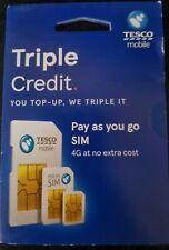 Tesco Mobile Triple Credit Sim Card
