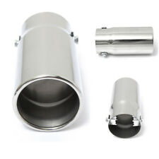 Chrome Round 58mm Inlet Exhaust Tip Stainless Car Muffler Tail Pipe Universal