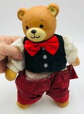 """Lucy & Me Teddy Bear Porcelain and Plush Doll with tags - 11"""" tall - no damage"""