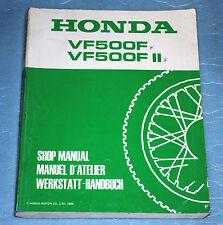 manuel d'atelier revue technique Honda VF 500 F / F II de 1985