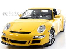 WELLY 18024W PORSCHE 911 997 GT3 RS 1/18 DIECAST YELLOW