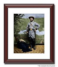 Col John Mosby Gray Ghost Confederate 11x14 Framed Photo Color Civil War -03240