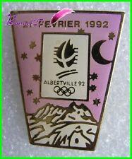 Pin's Jo Jeux Olympique Albertville le 21 Fevrier 1992  #B4