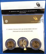 2011 Chickasaw (OK) America the Beautiful Quarters 3-coin Mint Set with COA
