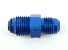 PRE-446639A  -6 AN Male To 16mm x 1.5 O-Ring Fuel & Power Steering Fitting Blue