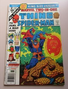 Marvel Two-in-One Annual #2 (1977) - Spider-Man - Thanos - RARE! - VF - REDUCED!