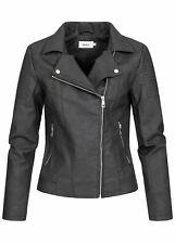 40% off b20020350 señora only chaqueta piel sintética Biker chaqueta steppdetail negro