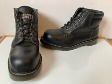 Solovair Black Leather Safety Boots Size UK 10 EU 45 made in England