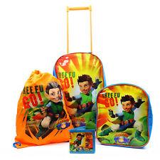 Kids Luggage Set Tree Fu Tom Suitcase Gym Bag Backpack Travel Holiday School