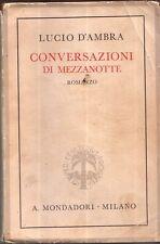 Lucio D'Ambra    Conversazioni di Mezzanotte ( Mondadori )