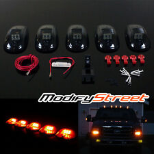 5 x SMOKE AMBER LED CAB ROOF RUNNING MARKER LIGHTS ASSEMBLY w/ WIRING+SWITCH