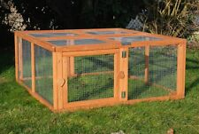 ENCLOS POUR LAPIN COCHON D'INDE TORTUE FURET CHAT PLIABLE EN BOIS RUN OUT AS4490