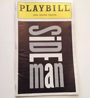 Playbill 1999 Side Man Andrew McCarthy John Golden Theatre Broadway Theater