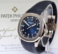 NEW Patek Aquanaut Blue 20th Anniversary 18k White Gold Watch Box/Papers 5168G