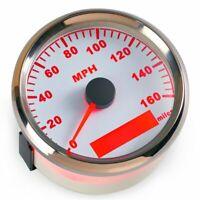 85mm GPS Car Speedometer Gauge 0-160MPH Boat Odometer Truck Marine Waterproof US