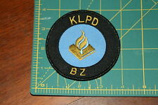 Dutch National Police KLPD BZ Shoulder Patch