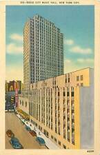 2 Radio City Music Hall Linen Postcard Vintage Cards 105 & 152