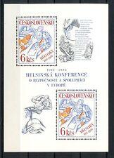 Cecoslovacchia 1976 SG #MS 2297 sicurezza e Co-op CONF. MNH M / S #A 35535