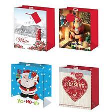 Pack 2 Navidad Pequeño Bolsa Regalo 26.5cm X 21.5cm X 10cm - Elegir Diseño