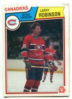 1983-84 OPC Larry Robinson Card #195 Montreal Canadiens