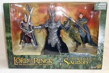 Lord Of The Rings: DEFEAT Of SAURON w/ King GIL-GALAD & ELENDIL LOTR Toy Biz NEW