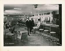 Paquebot S.S. FRANCE. c. 1960 - Intérieur Bar Tourist Class - Div 79