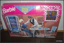 NRFB  VINTAGE 1998 MATTEL BARBIE DOLL DINING ROOM PLAYSET FOR HER HOME