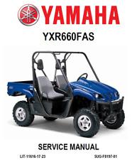 YAMAHA RHINO 660 Service Repair Maintenance Mechanic Workshop Manual BOOK 2007