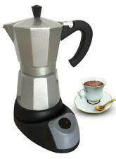 6 Cups Electric Aluminum Espresso Coffee Maker, 480 W,Silver