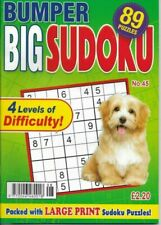 3 Sudoku Bumper Books 100 Puzzles in Each 4 Levels of Difficulty UK P/p