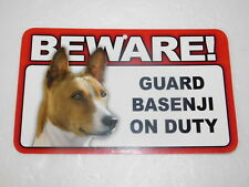 Beware! Guard Dog On Duty Sign - Basenji
