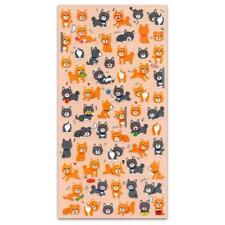 CUTE DOG STICKERS Vinyl Sticker Sheet Kids Craft Scrapbook Shiba Inu Mind Wave