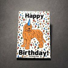 Golden Doodle Dog Happy Birthday Magnet Gifts Kitchen Accessories and Home Decor