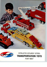 1967 PAPER AD 16 PG Structo Toy Truck Trash Sanitation Green Beret Dump Timber