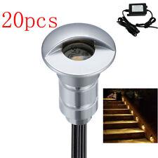 20X26mm 12V Warm White LED Inground Deck Light Outdoor Garden Patio Stair Path